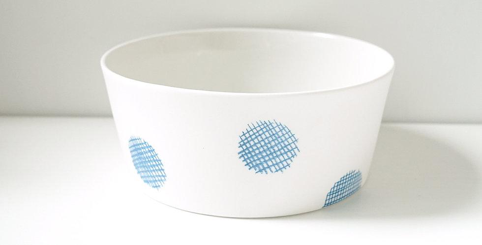 Porcelain Bowl Reprise White/Blue