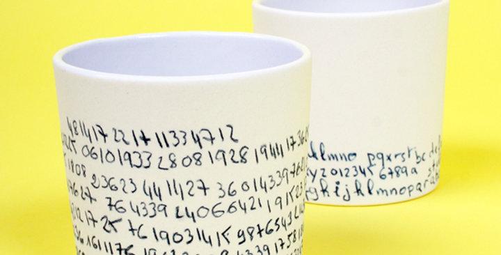 L'Atelier Des Garcons Porcelain Cup - Number - M