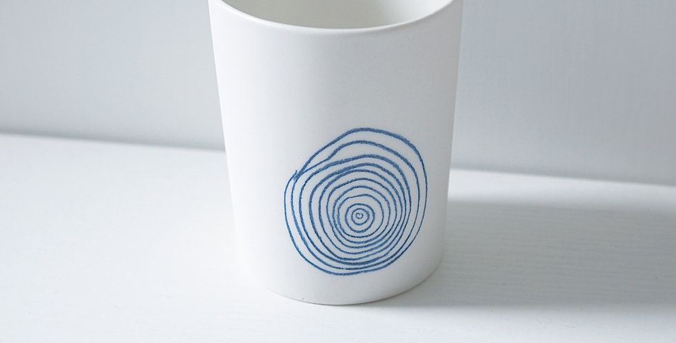 Porcelain Cup Pencil Pattern Bois L Blue