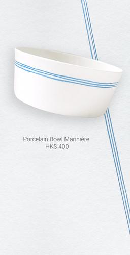 Porcelain Bowl Marinière