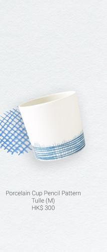 Porcelain Cup Pencil Pattern Tulle