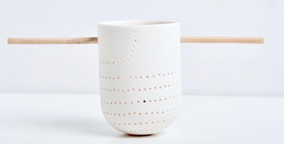 Porcelain Teaball White