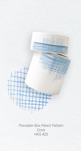 Porcelain Box Pencil Pattern Croix