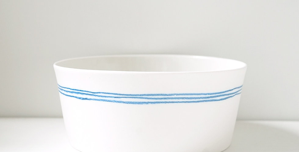 Porcelain Bowl Marinière White/Blue