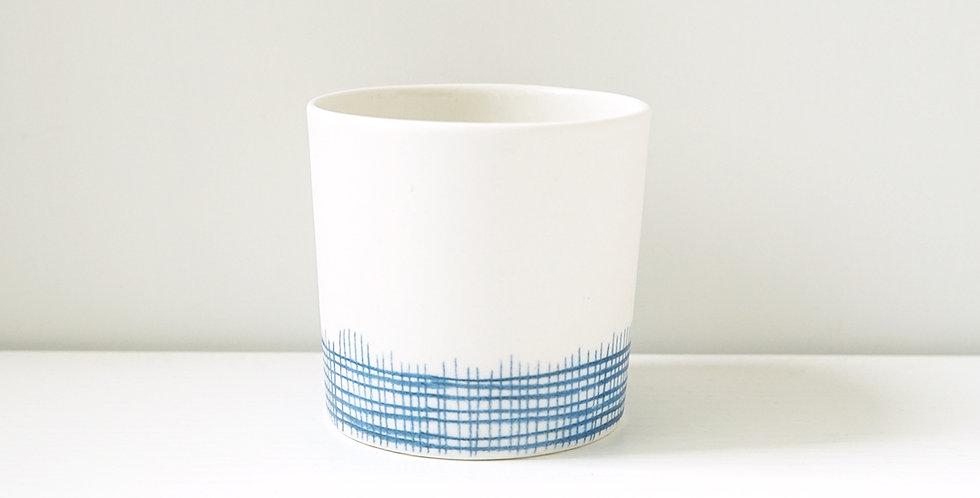 Porcelain Cup Pencil Pattern Tulle M Blue