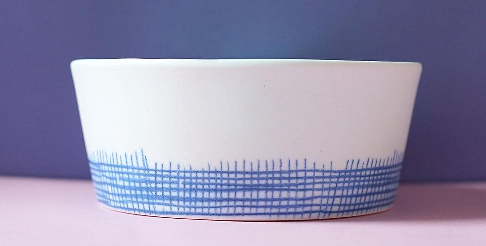 Porcelain Ramekin Tulle White/Blue