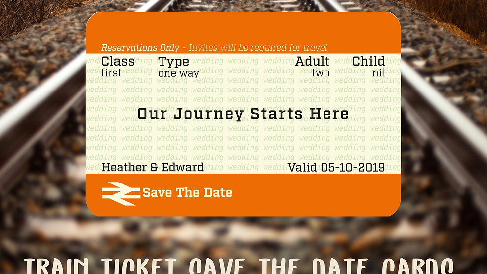 Train Ticket Style Save The Date