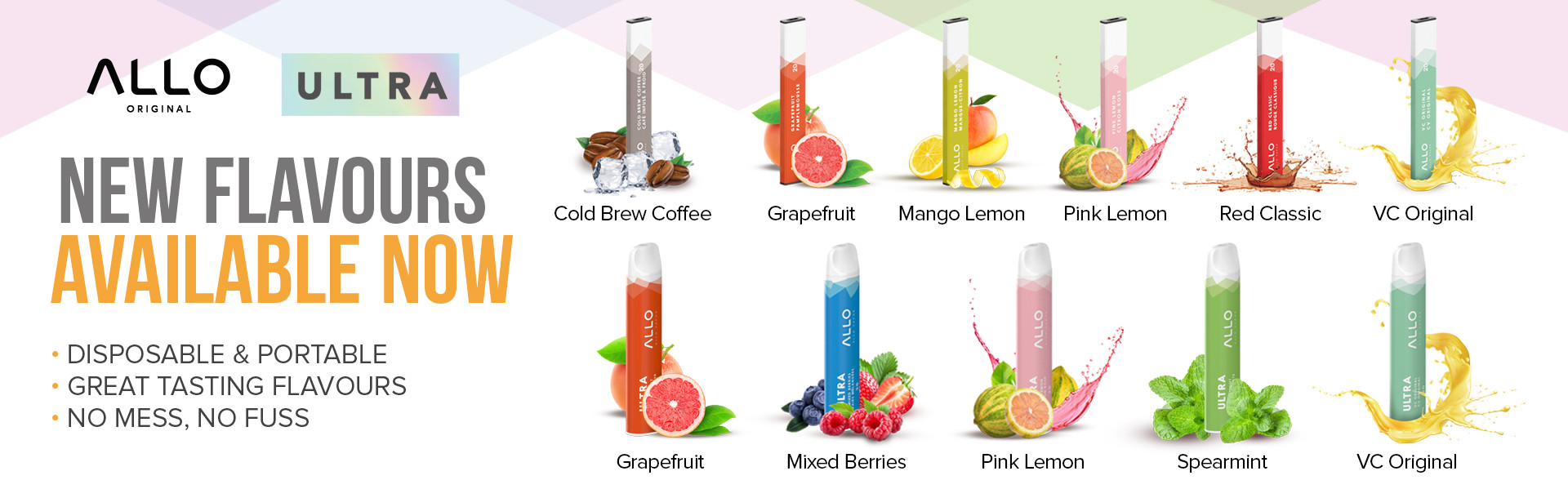 Allo Web Banner New Flavours Available N