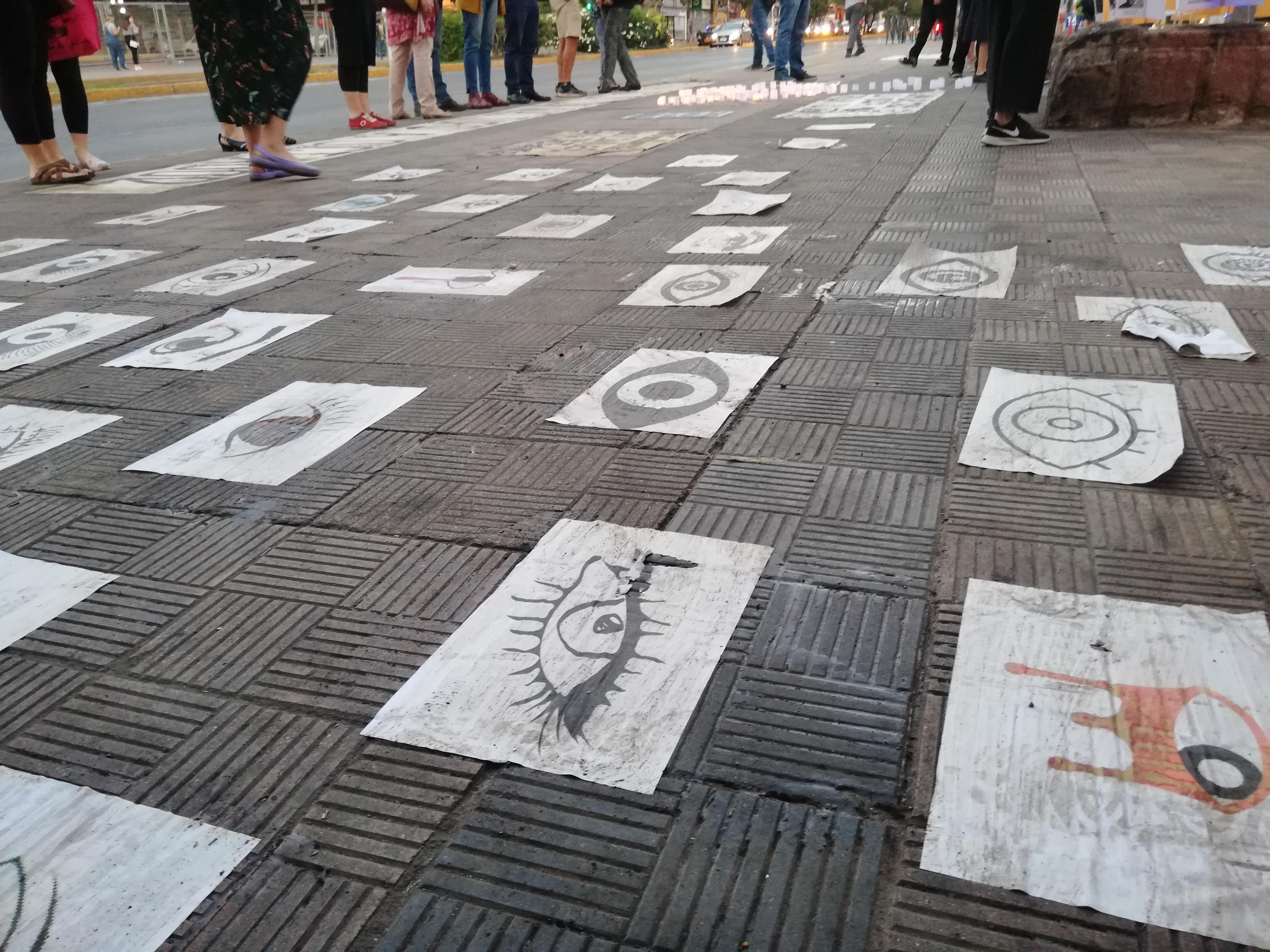 Manifestaciones en Plaza Ñuñoa