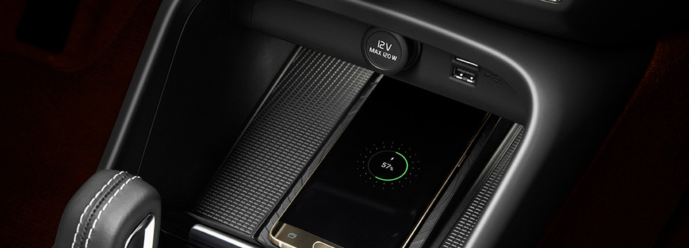 The New Volvo XC40 - Wireless phone char