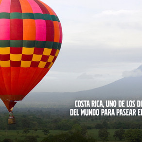 Costa Rica: uno de los 10 mejores lugares para pasear en globo aerostático