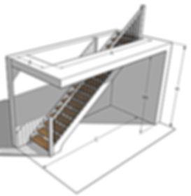 Pomiar schodów prostych