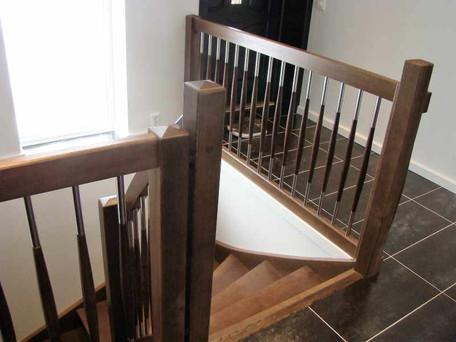 Balustrda , schody zabiegowe dębowe