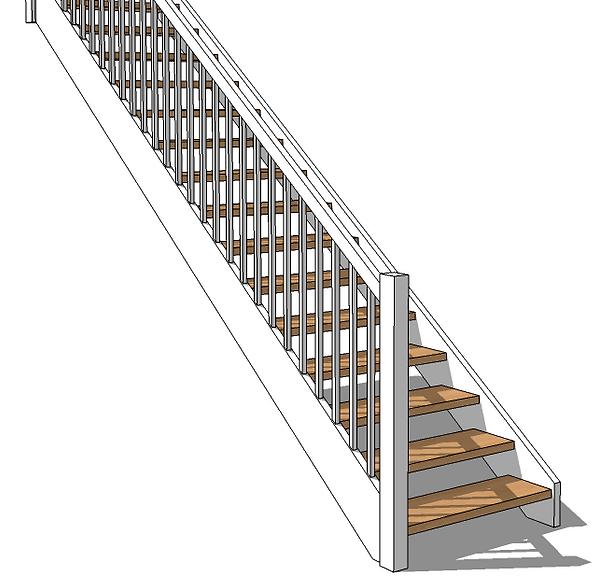 Schody proste drewniane