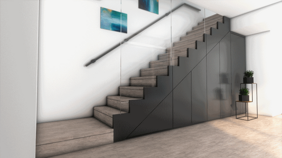 Garderoba pod schodami