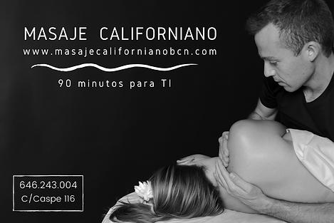 vale regalo masaje californiano