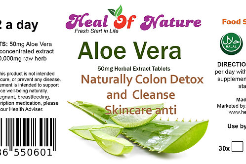 Ale Vera Extract Tablets 50mg Skin Health