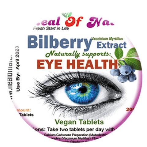Billberry Extract 2000mg  - EYE Health  -Select amount-
