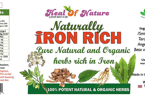 Iron Rich Natural Herbal Blend - Naturally supports Irondeficiency