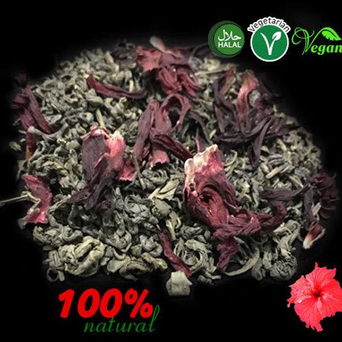 Green Tea AND Hibiscus  flower Herbal Tea