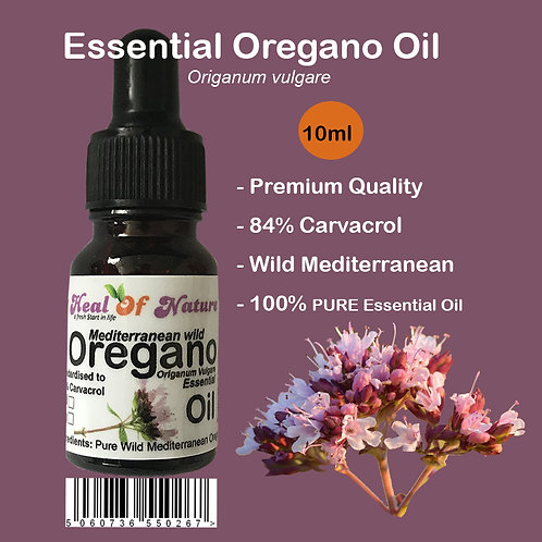 Pure Oregano Essential Oil Wild Mediterranean minimum 84% Carvacrol 10ml - 30ml
