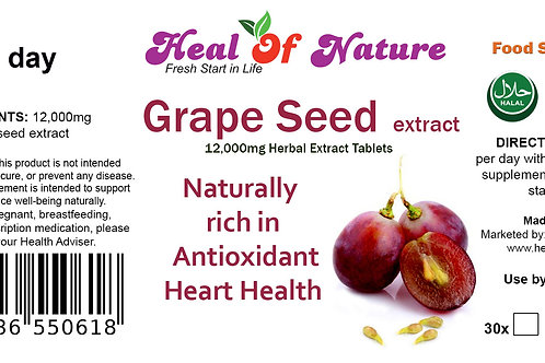Grape seed Extract Tablets 12000mg Naturally  rich in Antioxidant