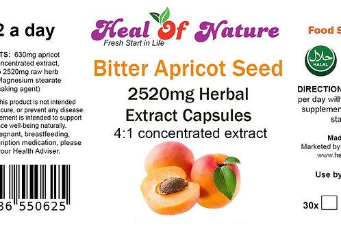 Bitter Apricot Kernel Seed Extract Capsules 2,520mg - Prunus armeniaca