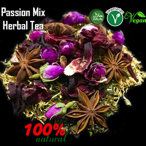 Passion Mix Relaxing and vitalising Herbal Support Tea