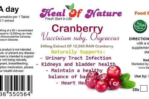 Cranberry Extract Tablets 12000mg Naturally supports (UTI) Cystitis
