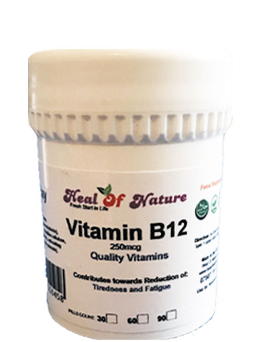 Vitamin B12 -  250mcg  -Select amount-
