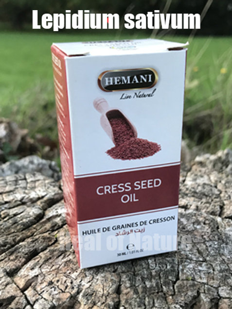 Cress seed Oil 100% Natural Infused Oil 30ml - By Hemani