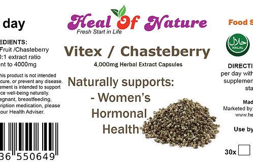 Vitex seeds (Chasteberry/ Agnus Castus) 4000mg High Strength Capsules