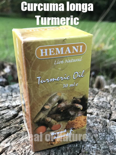 Turmeric ROOT Oil 100% Natural Infused 30ml - By Hemani