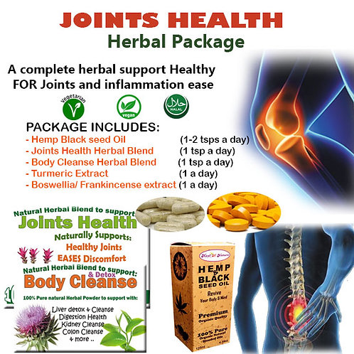 Herbal Support for Joints Health and inflammation Ease (Complete package)