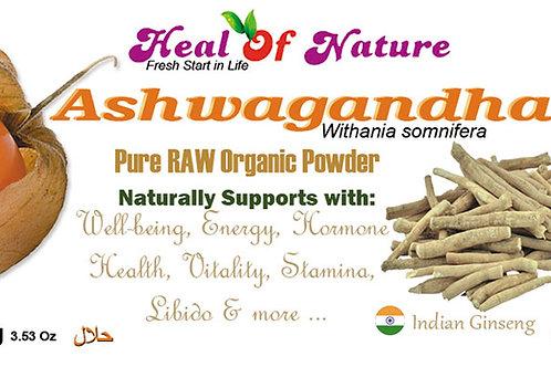 Organic Certified Ashwagandha (Withania somnifera) root powder