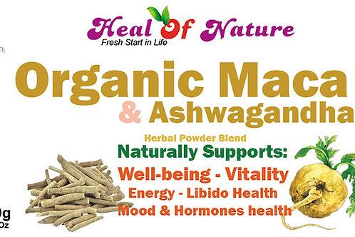 Organic Maca & Ashwagandha Naturally Support Energy, Vitality, Hormonal Balance