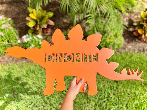 Dinomite Orange Sign