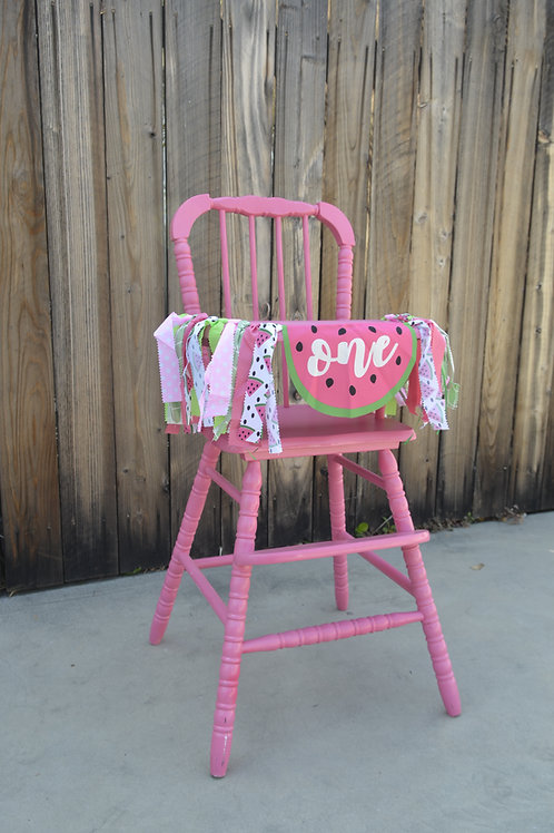 """""""Pretty in Pink"""" Vintage High Chair"""