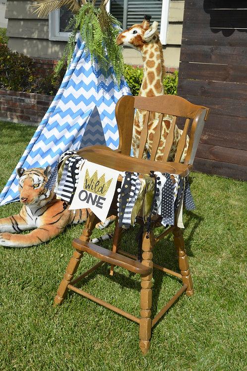 """Woody"" Vintage High Chair"