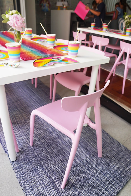 Baby Pink V-Back Kids Chairs