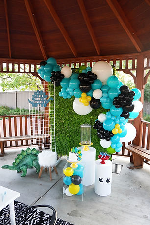 Petite Luxe Parties Dinosaur 3 Rex Children's Event Planning and Kids Party Rentals Los Angeles Orange County