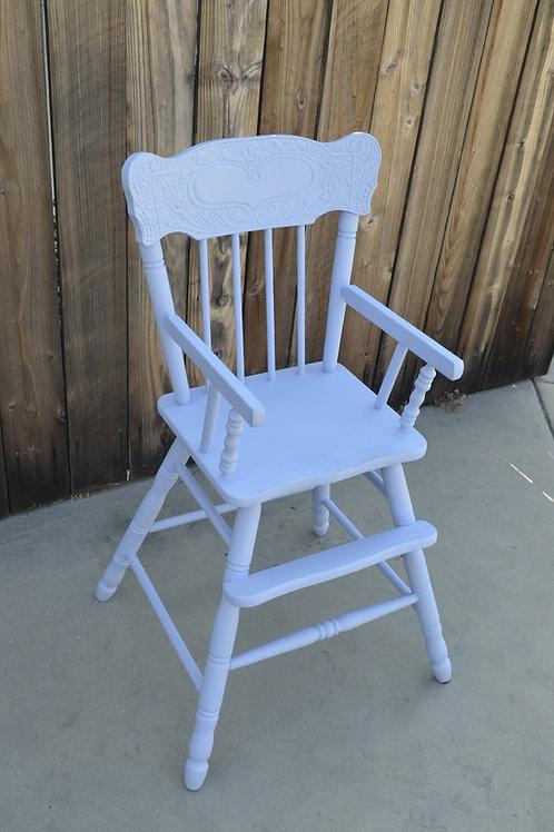 """Periwinkle Blue"" Vintage High Chair"