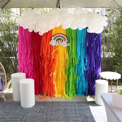Rainbow Fringe Backdrop