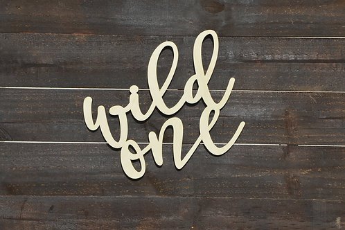 Wild One Wood Sign