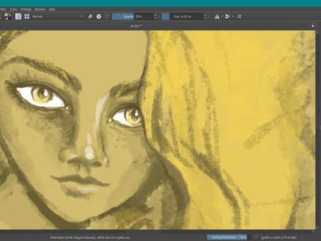 .jak jsem se znovu učila digitálně malovat