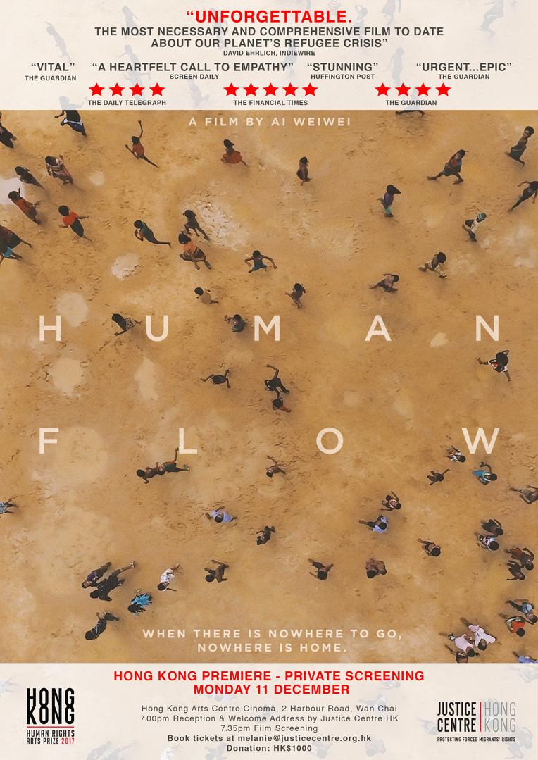 Human Flow Premiere HK, HKHRAP Fringe Event 2017