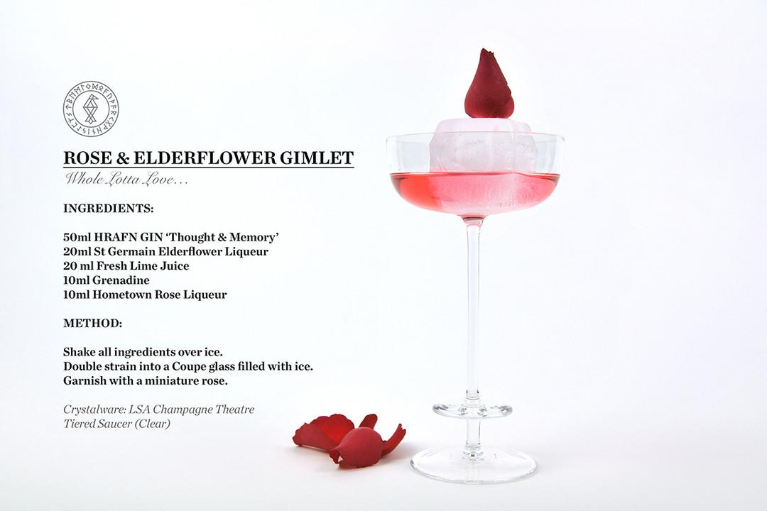 ROSE & ELDERFLOWER GIMLET