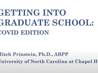 Getting Into Psych Grad School During COVID:  Great Resource!