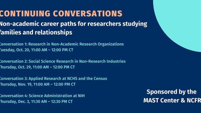 Non-Academic Career Paths for Researchers--Great Webinar Series!