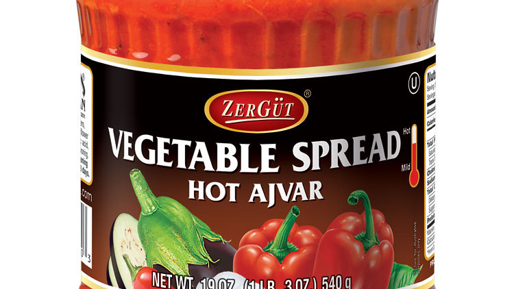 Zergut Hot Ajvar / Vegtable Spread 19 oz